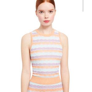 Alice & Olivia Antonella Knit Striped Tank Top